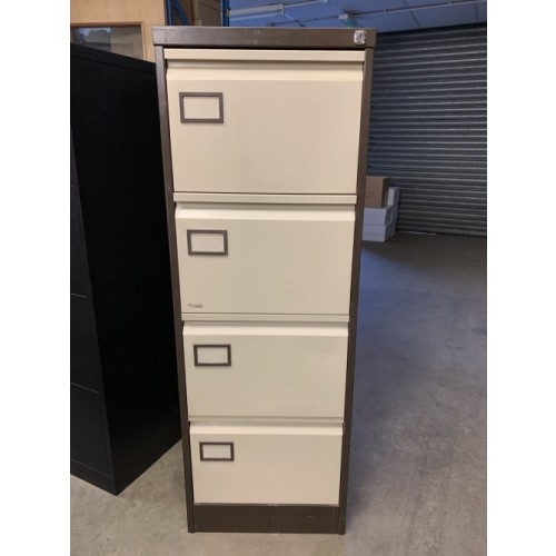 Filing Cabinet, 4 Drawer. In Coffee Cream. 1 In Stock