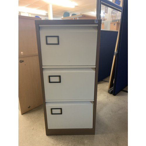 Filing Cabinet, 3 Drawer. In Coffee/Cream. 1 In Stock