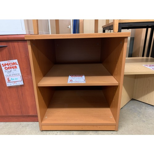 Open Fronted Storage Unit, 600mm Width x 800mm Depth, Finished In Cherry. 1 In Stock