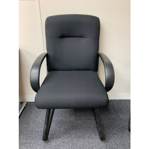 NEW - Reception Visitor Chair, With Arms. 2 In Stock (NEW - Cancelled Order)