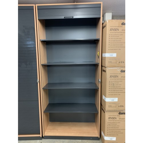 Tambour Cupboard - 2270mm High x 1000mm Width x 440mm Depth - Choice Of Internal Fittings; 4 x Plain Shelves, or Mix Of Pull-Out Cradles & Shelves. Only 3 Left In Stock