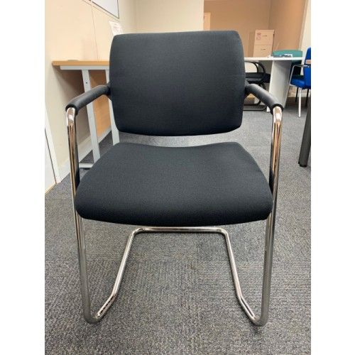 Reception/Visitor Chair, With Chrome Cantilever Frame. 1 In Stock