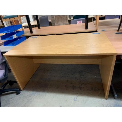 Rectangular Desk, In Bura Oak Finish - 1400mm Width x 800mm Depth. 1 In Stock