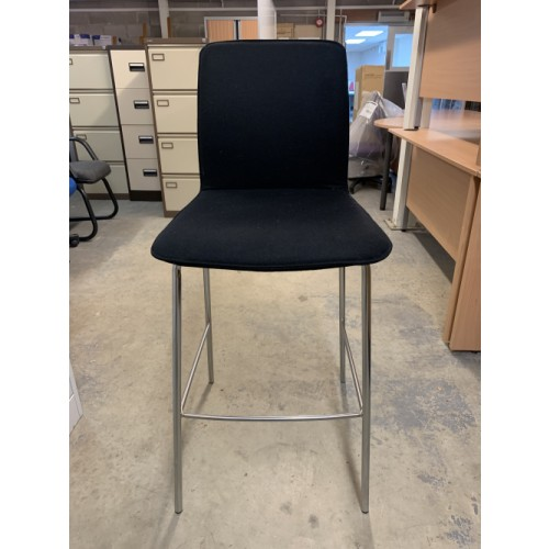 Side Stools, In Black Fabric. 3 In Stock