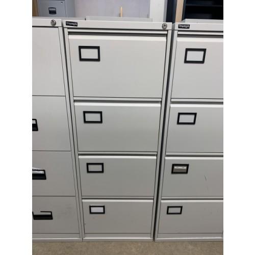 Filing Cabinet, 4 Drawer. In Grey. 2 In Stock