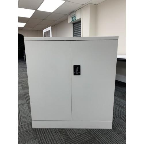 Double Door Cupboard, In Grey. 1020mm High x 915mm Width x 460mm Depth. Lots In Stock