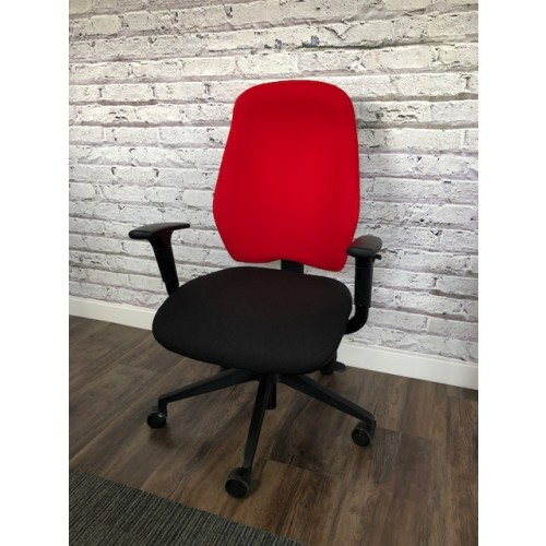 Task Elite Chair - Adjustable Arms, Memory Foam Seat, Synchro Mech, Seat Slide & Ratchet Back. Vast Range Of Colour Fabrics Available.