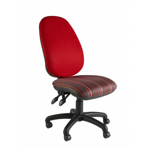 High Back Operator Chair, With Large Seat & Back. Vast Range Of Colour Fabrics Available.