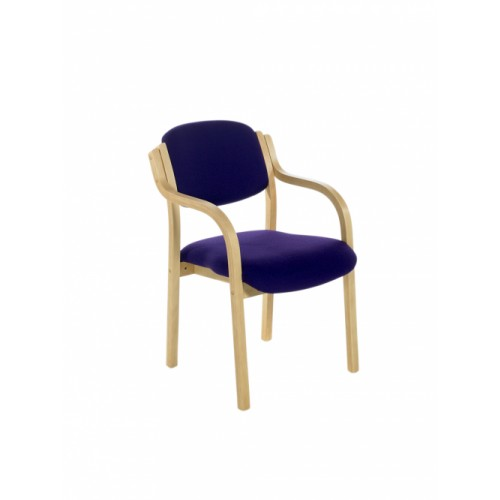 Visitor/Meeting Chair, With Arms. With Beech Frame.