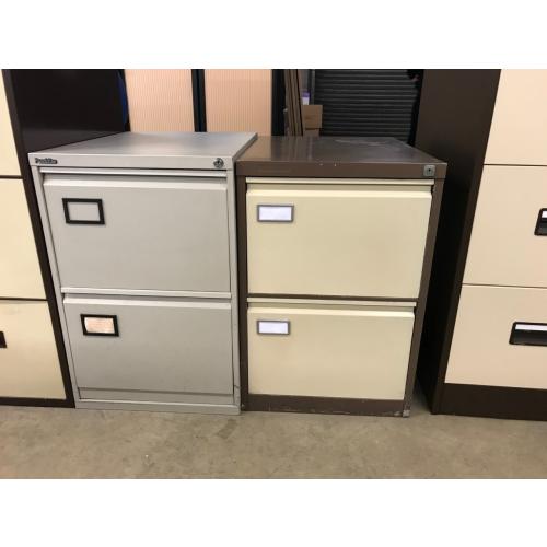 Filing Cabinet, 2 Drawer. In Grey. 1 In Stock
