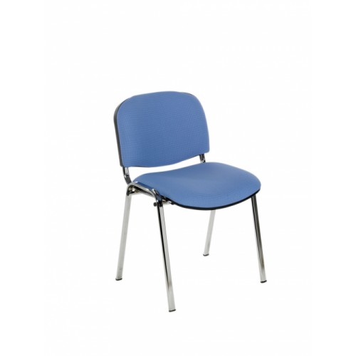 Stacking Chair (Flipper Range). With Chrome Frame. Upholstered Seat & Back.