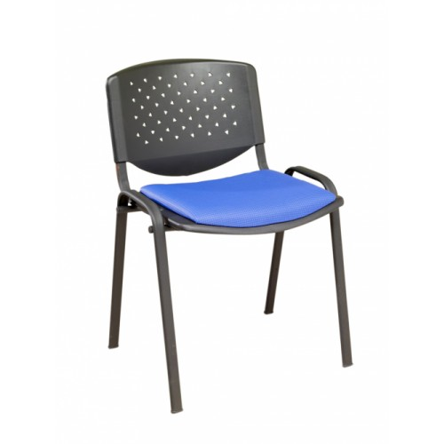 Stacking Chair (Flipper Range). With Upholstered Seat Pad & Perforated Back.