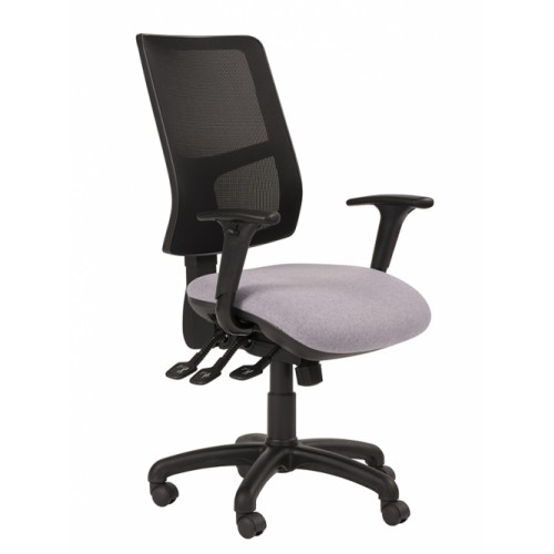 Task Mesh Back Chair - With Adjustable Arms, Memory Foam Seat, Synchro Mech, Seat Slide & Ratchet Back. Vast Range Of Colour Fabrics Available.