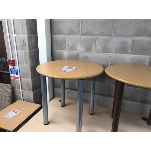 Meeting Table, 800mm Diameter, In Oak Finish. 1 In Stock