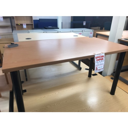 Meeting Table, 1400mm Width x 800mm Depth, Finished In Beech. 2 In Stock