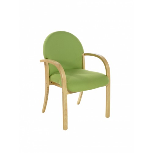 Visitor/Meeting Chair (Lennox Range). With Beech Frame & Arms.