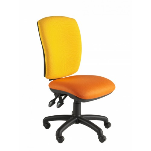 Square Back Operator Chair, With No Arms. Vast Range Of Colour Fabrics Available