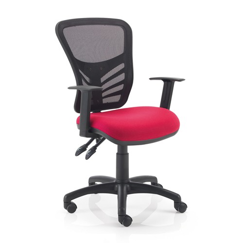 Mesh Back Operator Chair. Vast Range Of Colour Fabrics Available