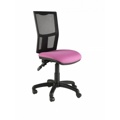 Mesh Back Operator Chair, With No Arms. Vast Range Of Colour Fabrics Available