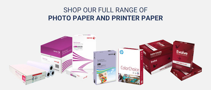 Photo paper and printer paper