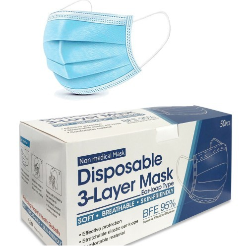 3 Ply Disposable Masks - Pack of 50
