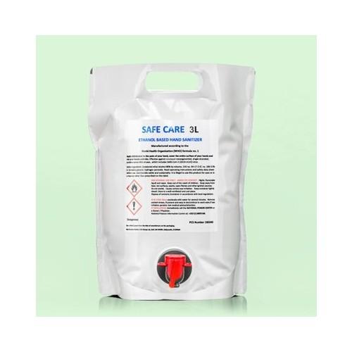 Hand Sanitiser 80% Alcohol - 3 Litre Bag with Dispenser