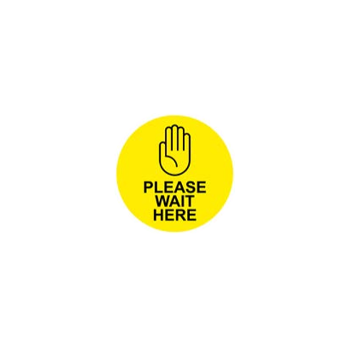 5 Pack - Please Wait Here Floor Sticker