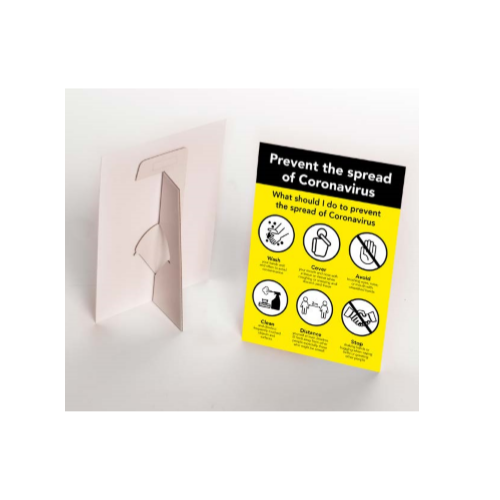 10 Pack - Covid-19 A5 Strut Cards