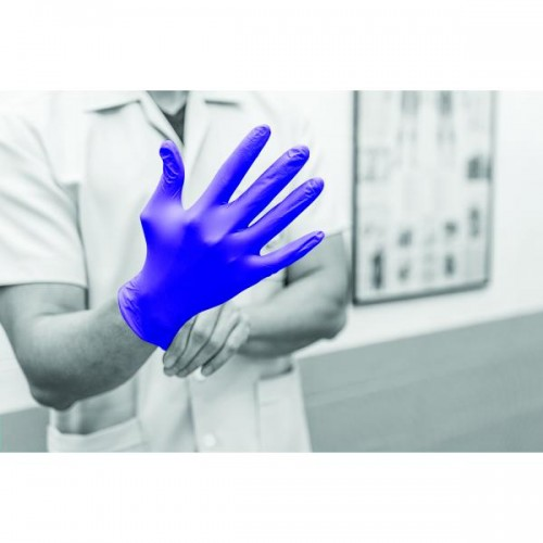 Medical Grade - Nitrile - Powder free - Disposable gloves - Size: Large - 125 Pack