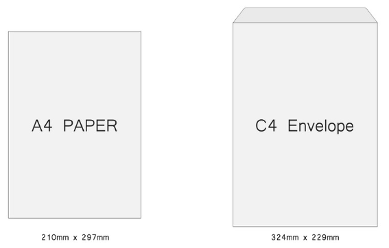 C4 Envelope Size Guide
