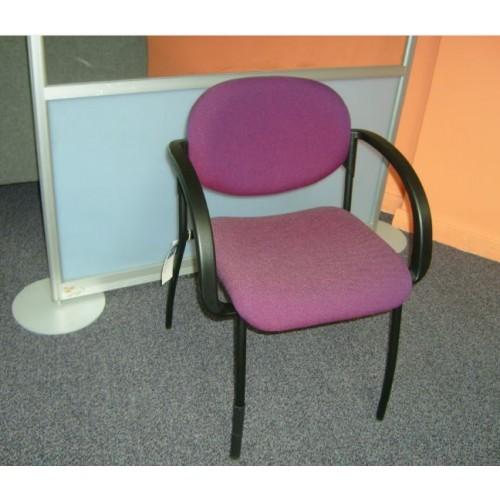 Aztec visitors arm chair- Advantage Damson