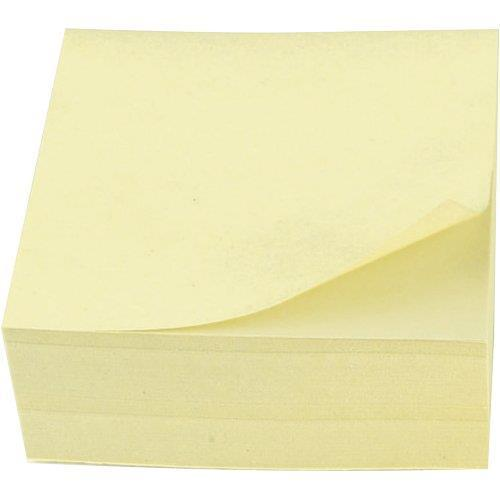 Star Office Re-Move Notes Cube Pad of 400 Sheets 76x76mm Yellow