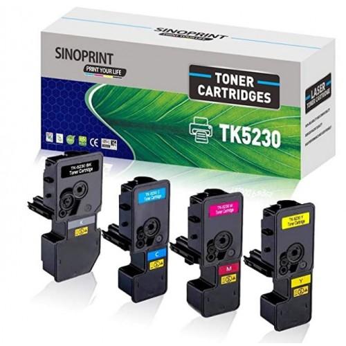 Compatible Kyocera TK5230 Toner Cartridges Pack 4 ( Black, Cyan, Magenta, Yellow)