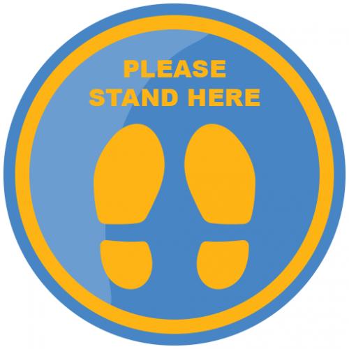 Social Distancing Floor Sticker Type 3 Retail & Office