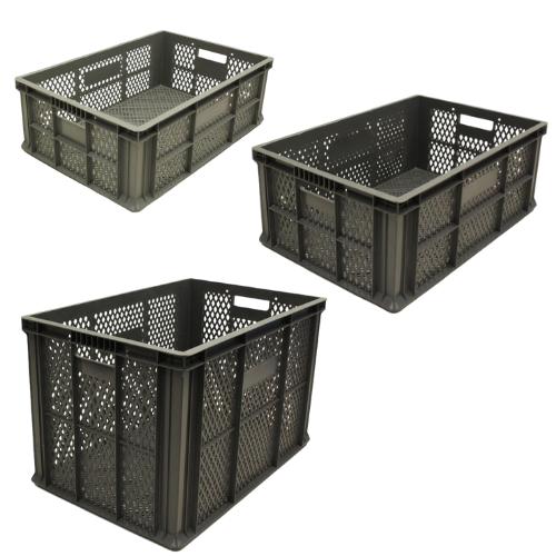 Plastic Euro Box Fully Ventilated Bulk Pack