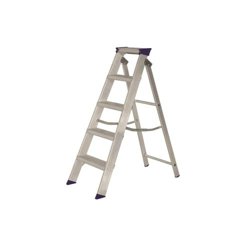 EN 131 Industrial Swingback Stepladder 5 Tread
