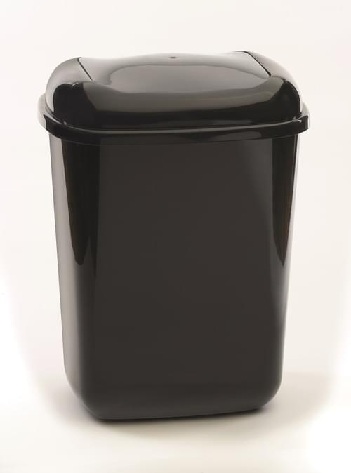 45 Litre Plastic Bin With Grey Push Lid