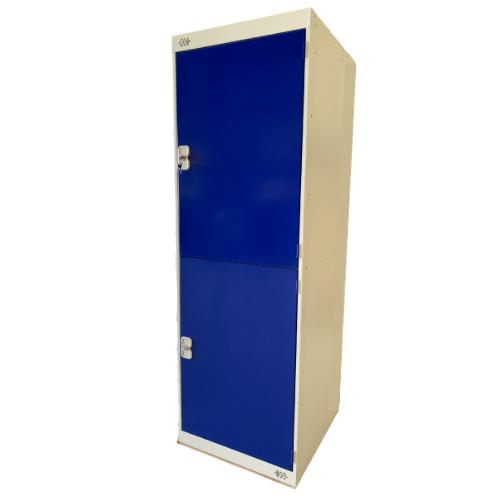 Blue Two Door Kit Locker - 600x600mm