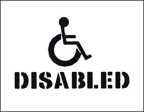 300 x 400mm Disabled Car Park Stencil