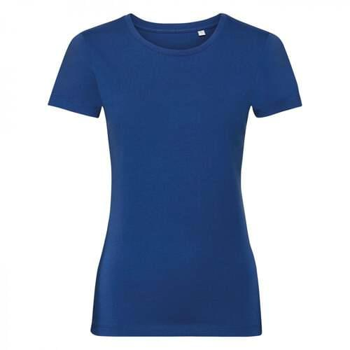 Women's Pure Organic Tee- Bright Royal, Extra Large