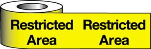 Barrier Warning Tape -75mm x 100m - Restricted Area