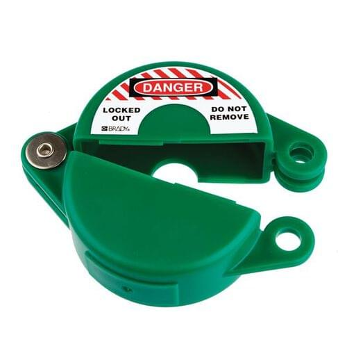 Gate Valve Lockout - 25 to 63.5mm - Green