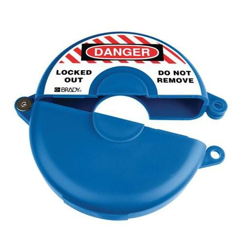 Gate Valve Lockout - 127 to 165mm - Blue