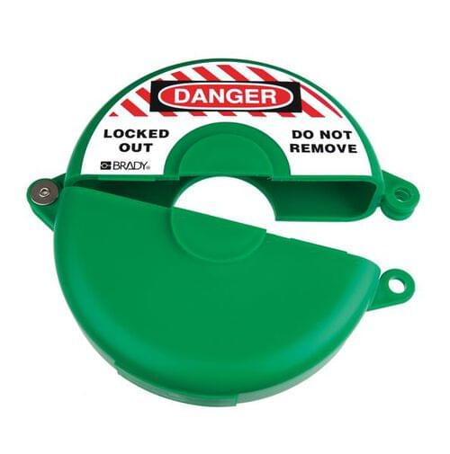 Gate Valve Lockout - 165 to 254mm - Green