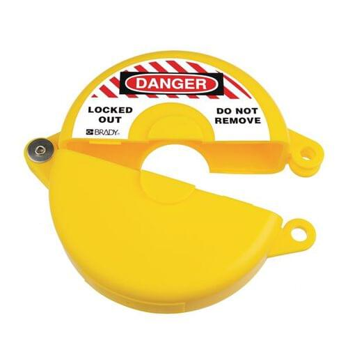 Gate Valve Lockout - 254 to 330mm - Yellow
