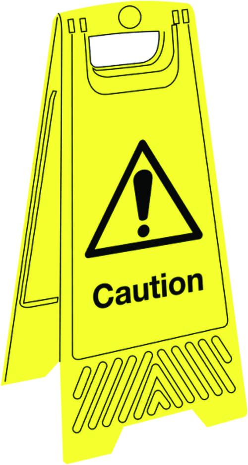 680x300mm Caution Floor Stand