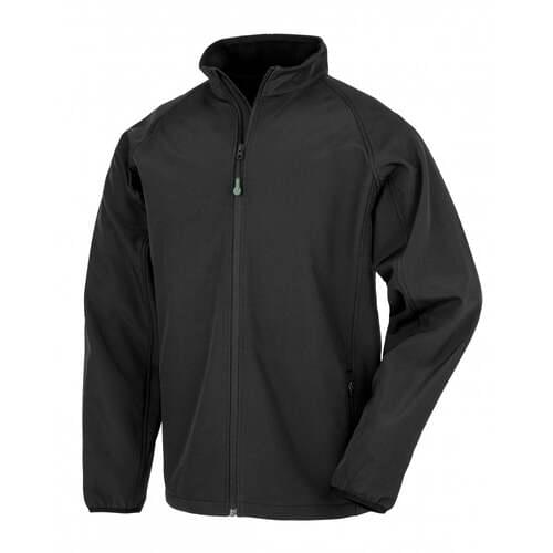 Men's Recycled 2-Layer Printable Softshell Jacket- Black, 2XL