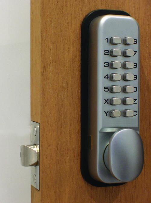 Key Pad Door Locks Polished Brass