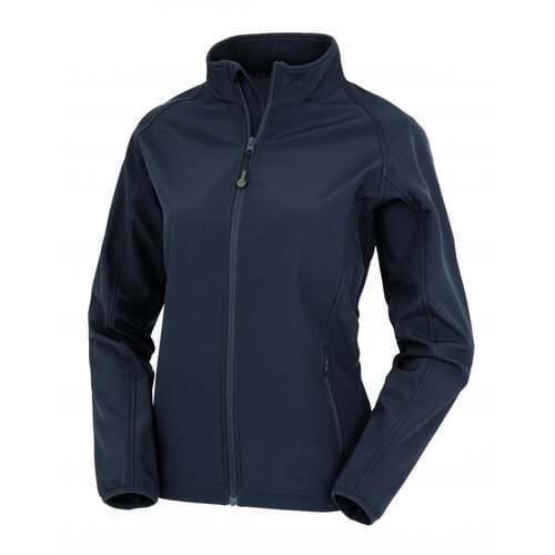 Women's Recycled 2-Layer Printable Softshell Jacket- Navy, Extra Small