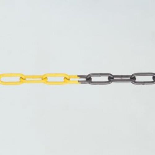 Galvanised Steel Chain - 5m Black & Yellow